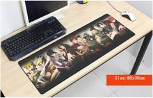 Naruto mouse pad anime pad to mouse notbook computer mousepad High quality gaming padmouse gamer to laptop 80x30cm mouse mats