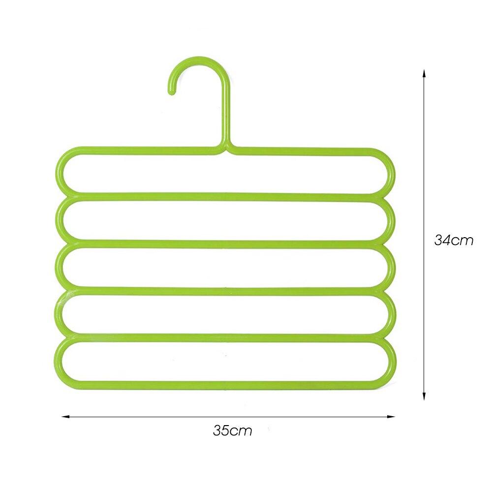 5 слоев не Нескользящая мультифункциональная подкладка под вешалки для одежды со штанами Для Хранения Вешалки ткань стойки Многослойные хранения шарф галстук вешалка 1 шт