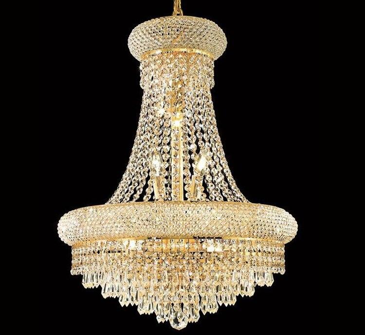 Phube освещения Французской империи золото Хрустальная Люстра Chrome Освещение Люстры Современные Люстры Свет Бесплатная доставка!