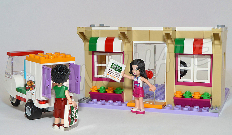 Aliexpresscom Buy 310pcs Friends Heartlake Pizzeria Shop Emma