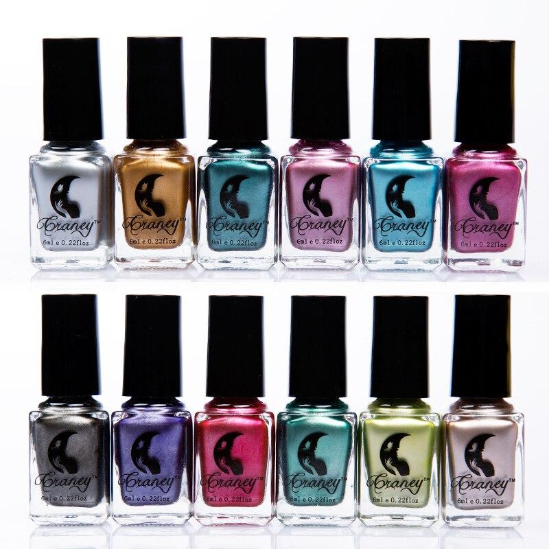 6 Colors Metallic Mirr Polish Professional Gel Nails Silver Varnishes Metal Glue Gel DIY Manicure Gel Nail Polish Gelpolish
