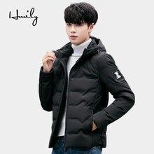 HMILY Winter Jacket Men Zipper Thicken New Arrival Student Youth Boy Mens Parkas Male European Hoodies Parka Coat