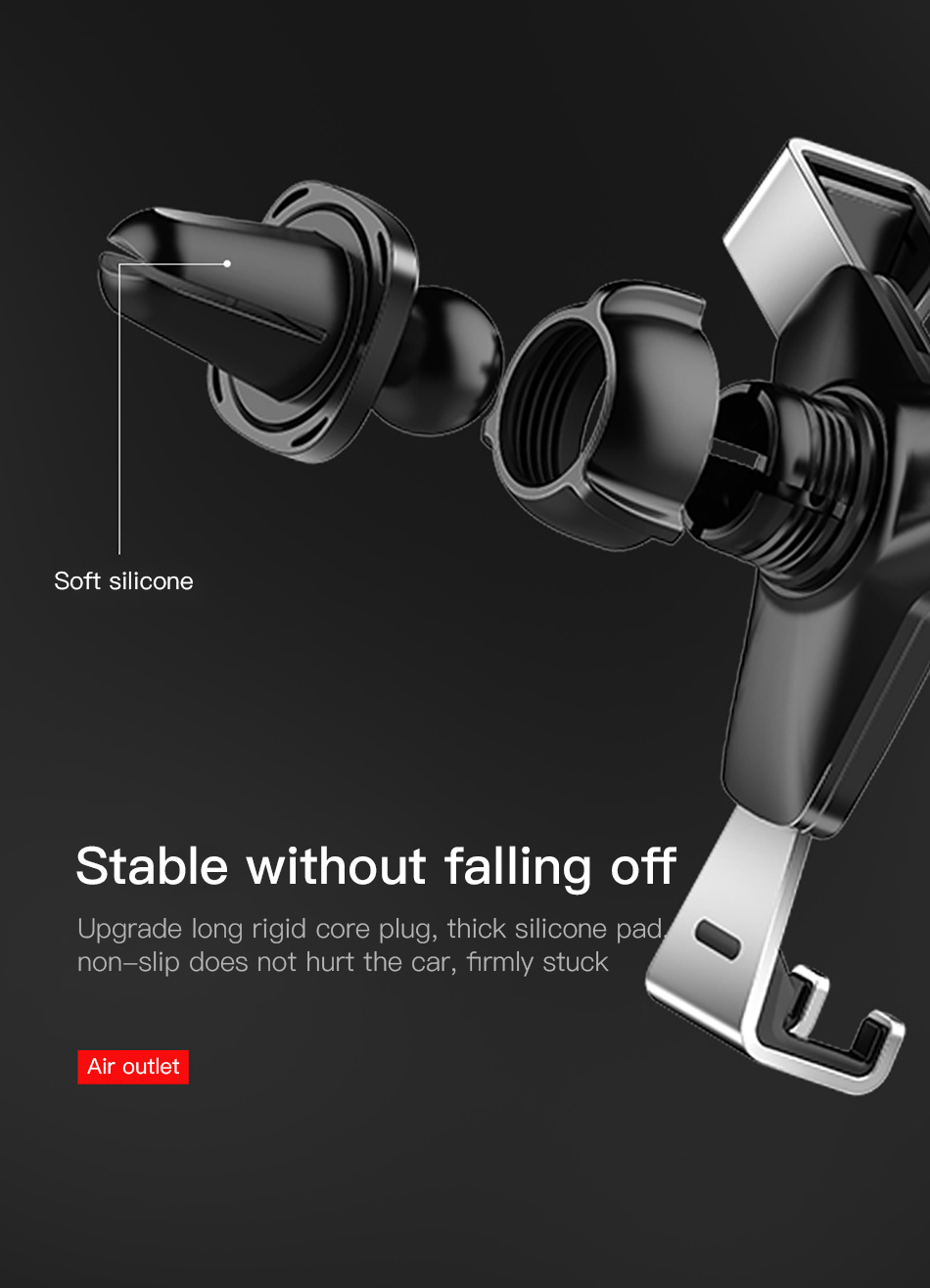 !ACCEZZ Gravity Car Phone Holder Stand Air Vent 360 Degree Rotation Universal 4-7 inches For iphone Xiaomi Samsung Auto Bracket (7)