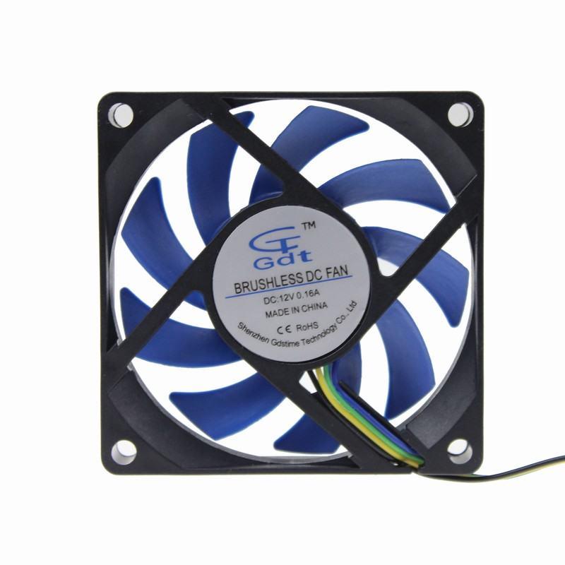 popular wire fan buy cheap wire fan lots from wire fan gdstime 2pcs lot 12v 4 pin 4 wire 70mm x 15mm hydraumatic bearing dc cooling
