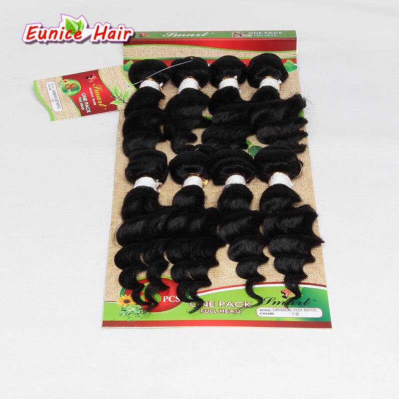 8pcs / lot Obehandlad kvalitet hårförlängning brasilianska - Syntetiskt hår - Foto 5