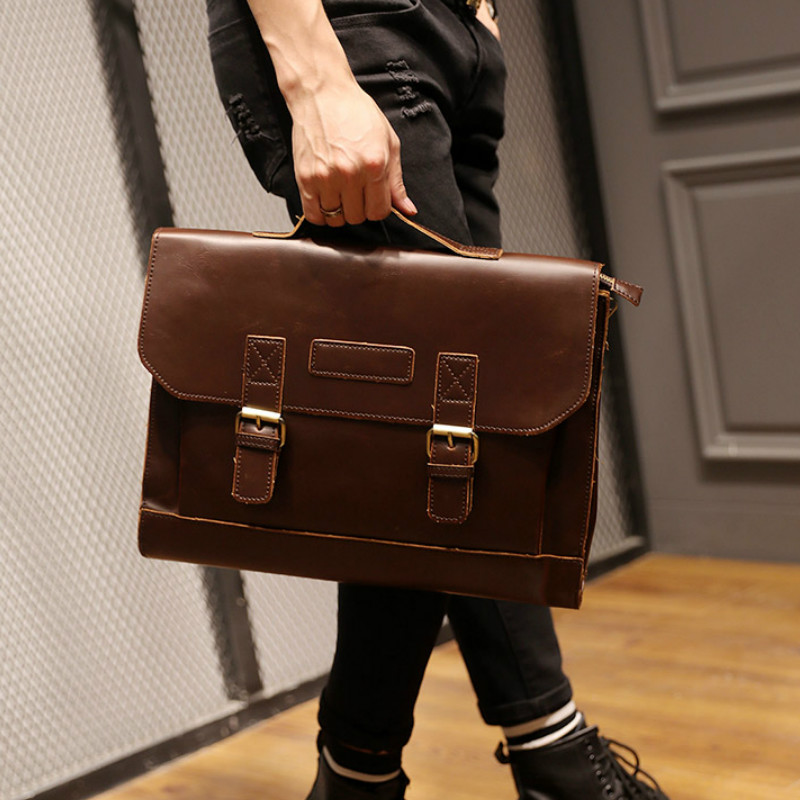 Tidog Korean Male Bag Shoulder Bag Messenger Bag Business Men Briefcase
