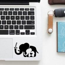 Elepant Mom & Son Cartoon Trackpad Decal Laptop Sticker for Macbook Pro Air Reti