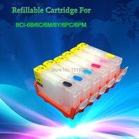 MÜREKKEP YÖNLÜ BCI-6 doldurulabilir kartuşlar PIXMA iP6000D i9100 i900D i905D i950 i960 i965 i9100 S800 S820 S820D S830D S900 S9000