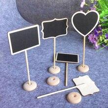 12 шт. деревянная доска для доски для свадебной вечеринки, декор стола, табличка с номером, Прямоугольная форма, доски 18 см X 8 см