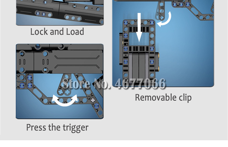 Legoed gun model building blocks p90 toy gun toy brick ak47 toy gun weapon legoed technic bricks lepin gun toys for boy 142