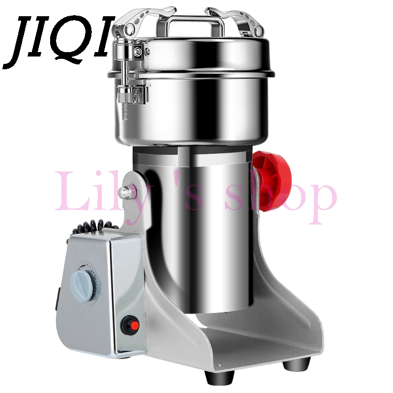 JIQI 750g Electric Grains Spices grinder Chinese medicine Cereals Coffee Dry Food powder crusher Mill Grinding Machine 110V 220V dry food grinder machine swing type electric grains herbal powder miller high speed spices cereals crusher w ce ccc