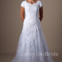 cecelle Wedding Dresses With Short Sleeves With Sleeves