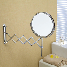 High Quality 8 Dual Makeup Mirrors 11 And 13 Magnifier Copper Cosmetic Bathroom Double Faced Wall Mounted Bath Mirror 1228