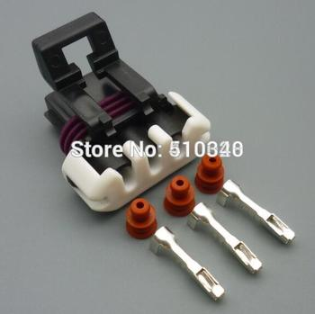 100set 1.5mm 3-hole waterproof  female connector plug  with terminal block