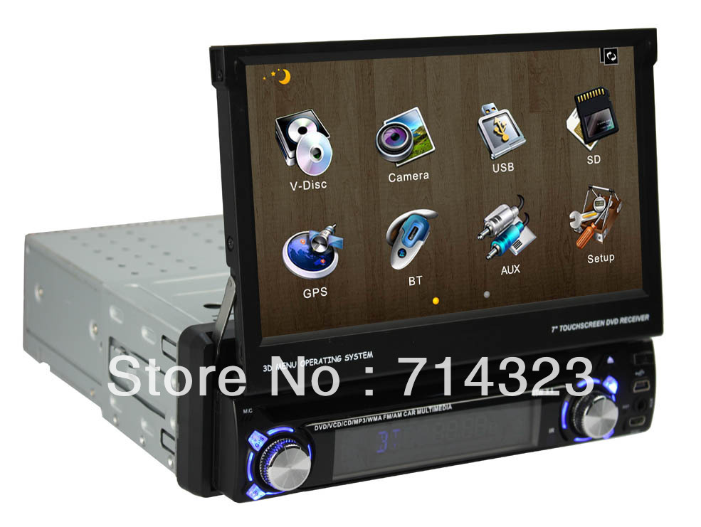 in dash single 1 din car audio with android 4 0 system dvd. Black Bedroom Furniture Sets. Home Design Ideas