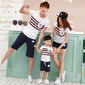 Family clothing set Summer Short Sleeve t shirt short set suit for father son mother daughter family look fashion