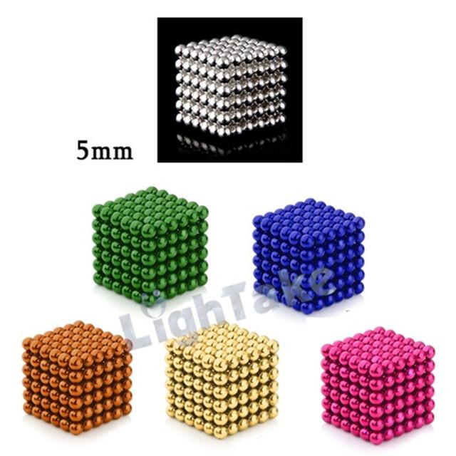 6x216 Unids 5mm Bolas Magnéticas del Cubo Mágico Cubos Combo Set de Regalo