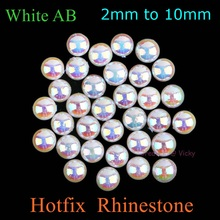 Ceramic Hotfix White AB Rhinestones 1.5mm to 10mm Crystal AB Rhinestone Hot  Fix Crystals DIY Iron On Stones High Quality 5525bf16c939