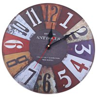 Good Quality Arabic Numbers Retro Fashion Creative Living Room Wall Clock Mute England Watch Rustic Decoration Wooden Wholesale