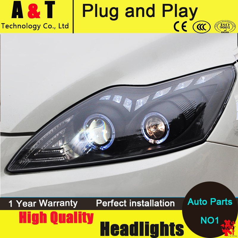 Car Styling LED Head Lamp for Ford Focus2 headlight assembly 2009-2012 Focus led headlight turn signal drl H7 with hid kit 2pcs. car styling head lamp for bmw e84 x1 led headlight assembly 2009 2014 e84 led drl h7 with hid kit 2 pcs