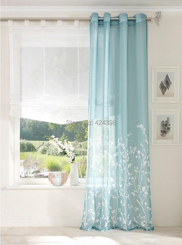 Grey Blue Curtains