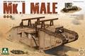 Takom 1/35 primeira guerra mundial pesado tanque de guerra mk. I masculino ( 2 em 1 ) # TAK-2031 ( No. 2031 )