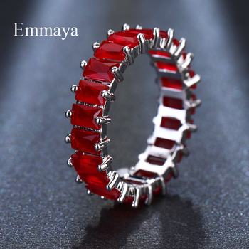 EMMAYA Silver Color Unique Design CZ Ring Paved Austrian Zircon Fashion Women Ring Jewelry 1