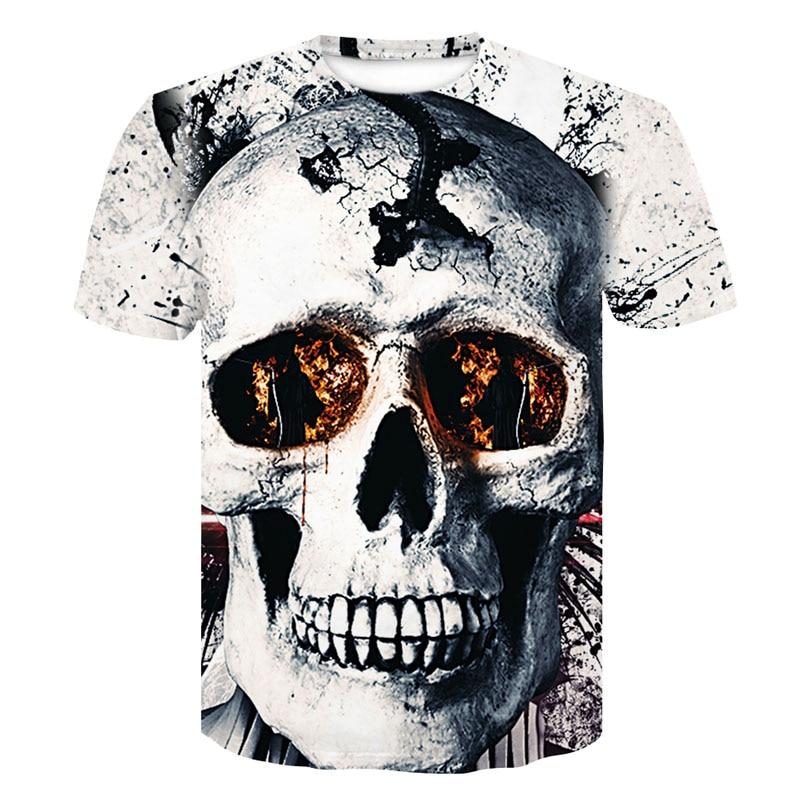 Casual 3D Skull T Shirt