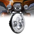 DOT Утвержденных 7 Дюймов Черный/Серебристый Проектор Daymaker HID Свет Лампы Фар Harley Chopper Боб