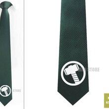 """Thor Symbol Мужской Жаккардовый тканый тонкий узкий 2,"""" галстук 6 см Галстук Свадебная вечеринка галстук для жениха запонки LK084M"""