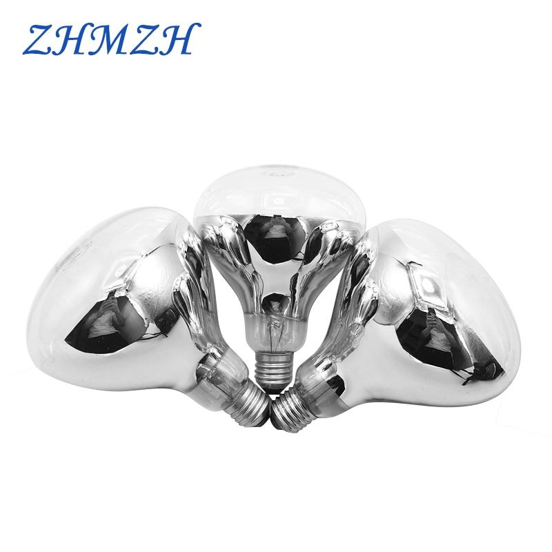 E27 AC 220V Bath Bully Bulb 100W 150W 175W 200W 275W Breeding Bulbs Heater Lamp Explosion-proof Waterproof Hard Infrared Light