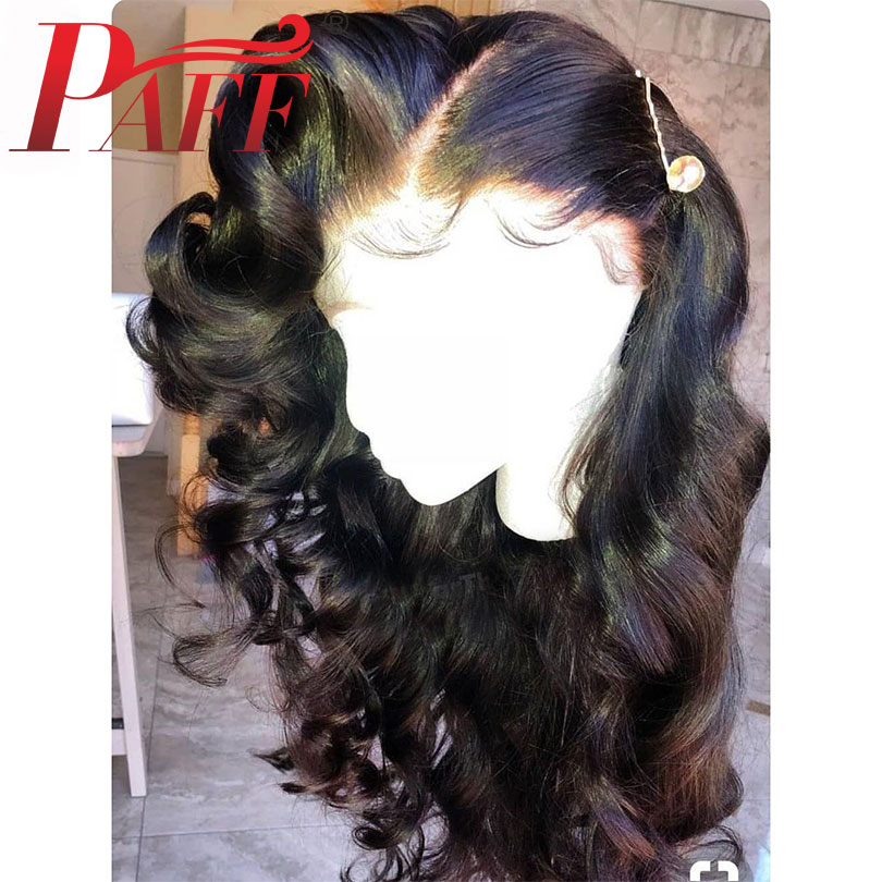 PAFF Pre Plucked 250% Density 4*4 Silk Base Lace Front Human Hair Wigs with Bleached Knots Brazilian Remy Hair Lace Front wigs
