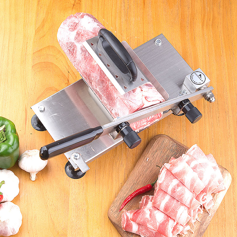 Household stainless steel Meat slicer beef Lamb roll Slicer Manual meat planer beef and mutton manual slicer household stainless steel cleaver beef meat cutter household frozen planer