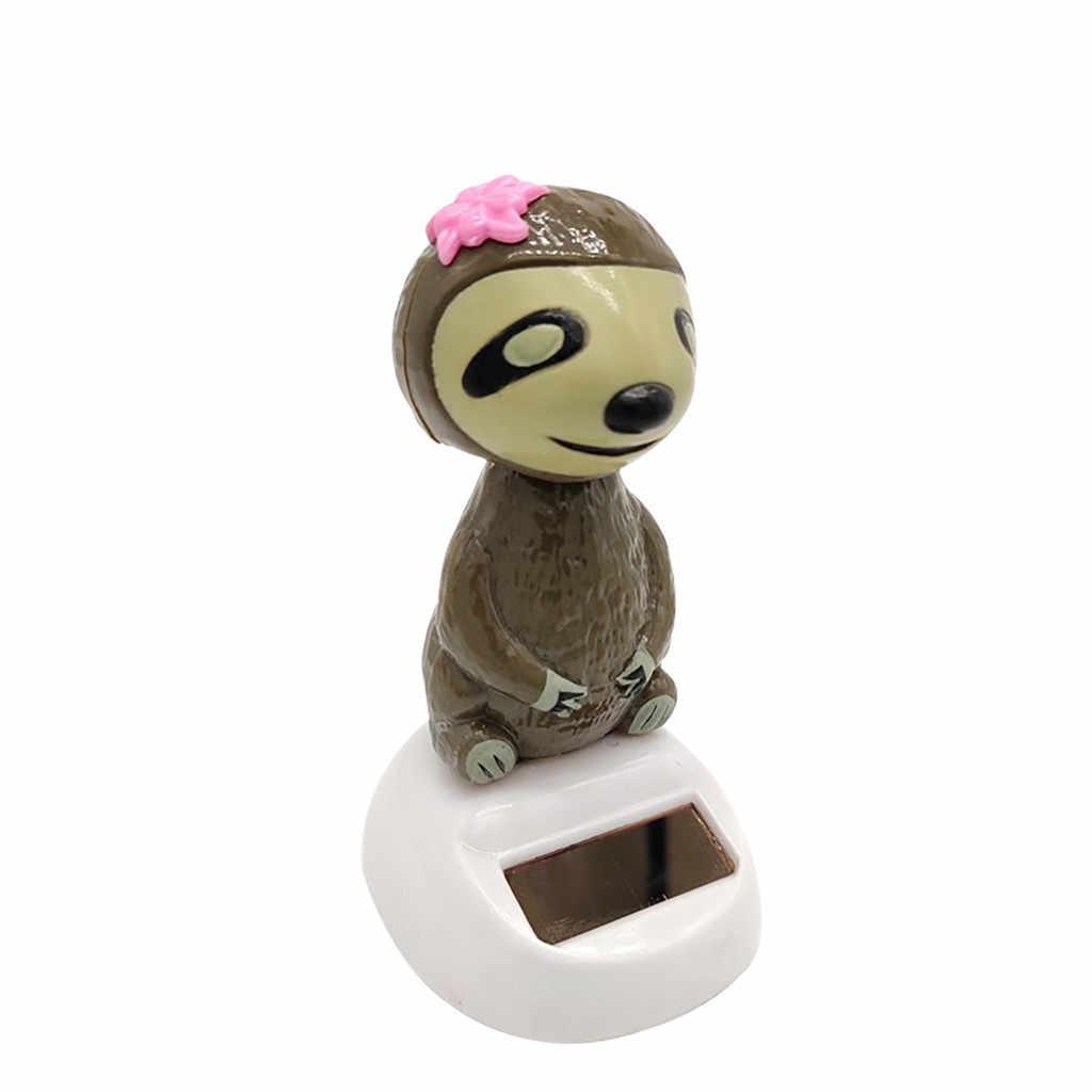 1 шт. животные Авто встряхивание на солнечных батареях Танцующая качающаяся кукла Танцующая игрушка Приборная панель автомобиля подоконник стол Декоративная скатерть