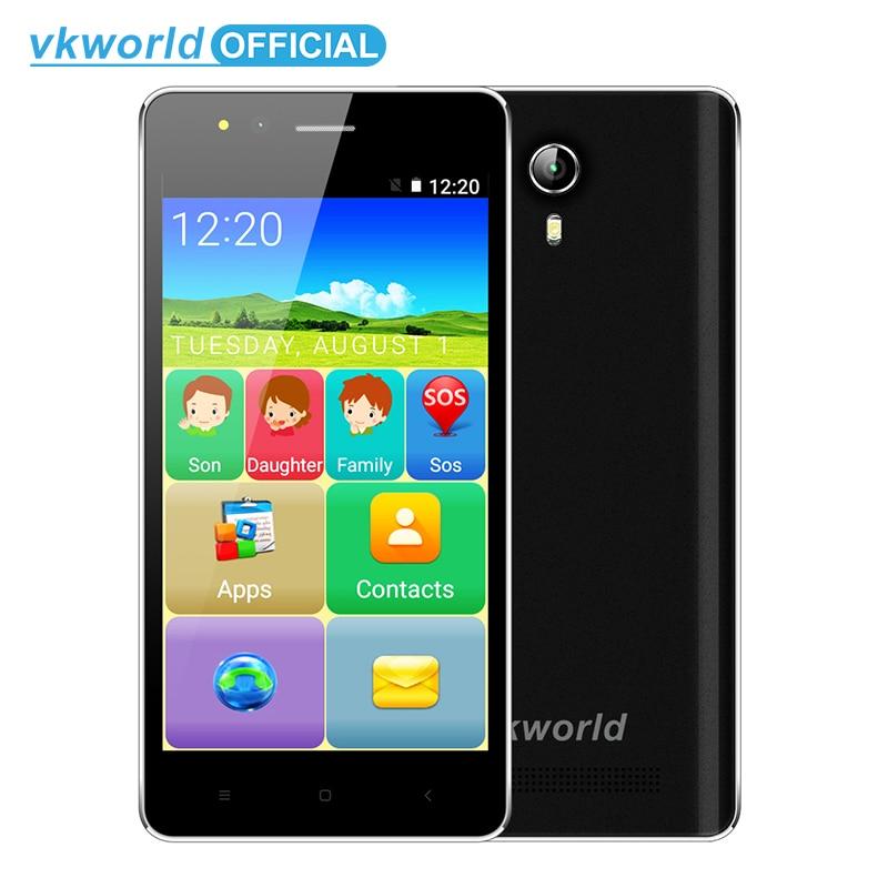 Vkworld F1 MTK6580 Quad Core 4 5 Display Elderly Smartphone Louder Speaker 1GB 8GB Android 5