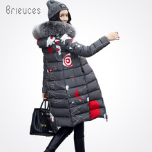 Brieuces Warm High Quality Woman Parkas Winter Jacket Coat with Hood Women Thick New Collection