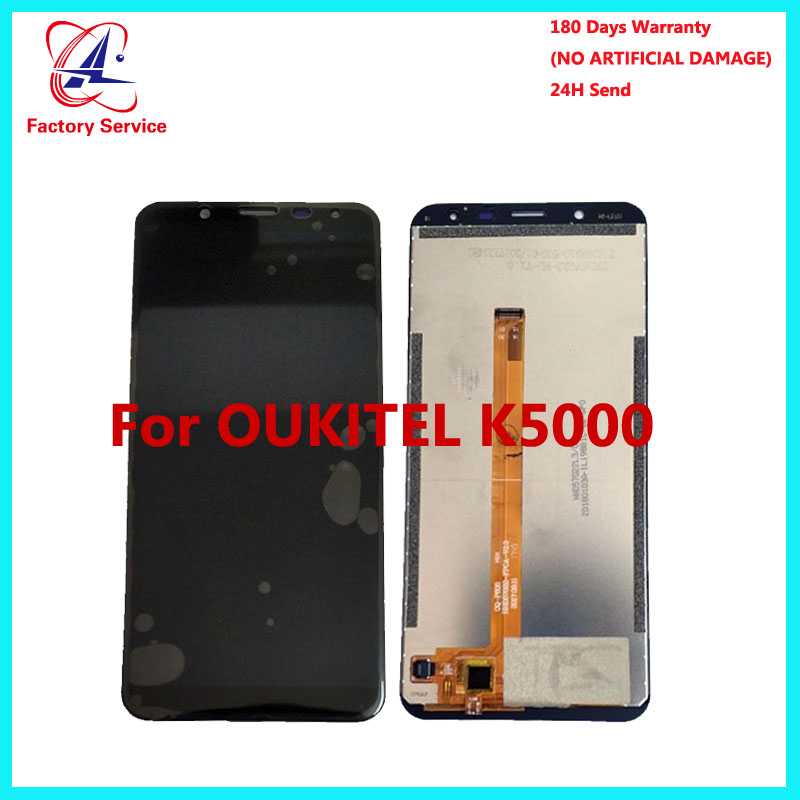 For 100% Original <font><b>OUKITEL</b></font> <font><b>K5000</b></font> <font><b>LCD</b></font> Display+Touch Screen Panel Digital Replacement Parts Assembly 5.7 inch For <font><b>Oukitel</b></font> <font><b>K5000</b></font> image