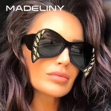 845d99d1f213d MADELINY 2018 Moda Borboleta Mulheres Óculos De Sol de Marca Designer de  Personalidade de Grandes Dimensões