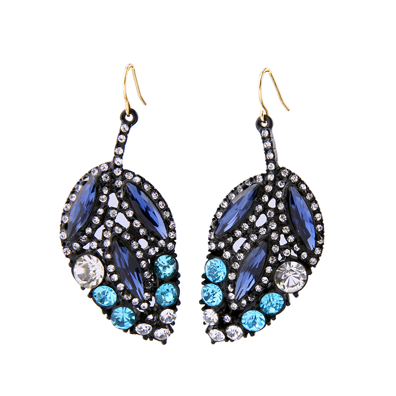 Blue Leaf Earring New Fashion Women Charming Costume Ear