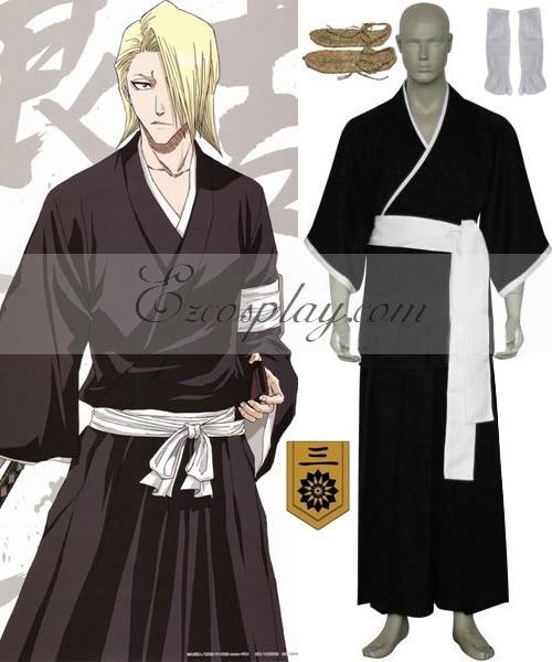 Bleach 3rd Division Lieutenant Kira Izuru Cosplay Costume E001