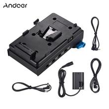 Andoer V Mount V lock แบตเตอรี่อะแดปเตอร์สำหรับ BMCC BMPCC Canon 5D2/5D3/5D4/80D /6D2/7D2 พร้อม Dummy แบตเตอรี่อะแดปเตอร์การถ่ายภาพ