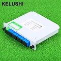 KELUSHI 1x8 PLC splitter Módulo De Inserção do Cartão Cassete Caixa LGX 1:8 8 Portas de Fibra Óptica PLC Splitter