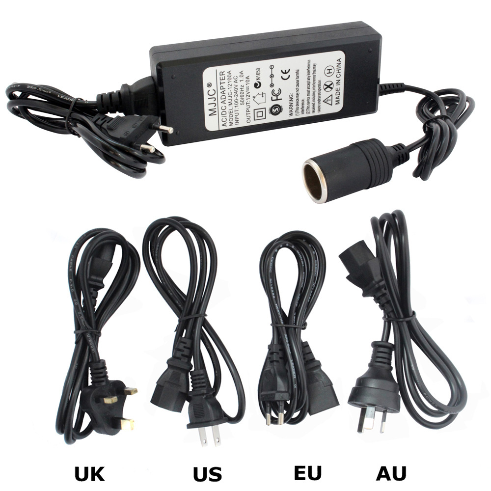 Car Cigarette Lighter AC DC Power Converter Adapter 110V 220V to 12V 5A 6A 7A 8A 10A Power Supply Switch Lighting Transformer