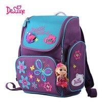 New Quality Backpack School Satchel Children Sports Bags Cartoon Bear owl Orthopedic Backpacks Girls Book Backpacks Delune 1 003