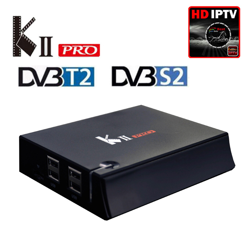 DVB T2+S2 KII Pro Android TV Box Amlogic S905 Quad-core 2GB/16GB 2.4G/5G Dual Wifi 4K Smart Media Player Support Europe IPTV цена