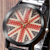 Kevin Rhinestone Bling Men Women Wrist Watch England The Union Jack Dial Gift Trendy Quartz UK