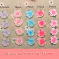 15pc/lot 15mm Resin Diy Accessory Flatback Mixed Polymer Clay Rose Shape Ceramic Flower Beads For Earing Jewelry Making Material