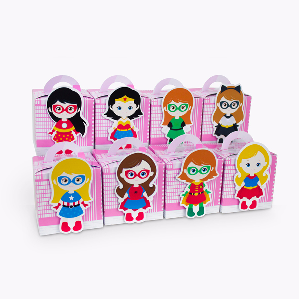 Superhero Girl Avengers Cupcake Box otroška oprema za tuširanje Candy Box darilna omarica Favor Box Girl Girl Birthday Party okraski za otroke