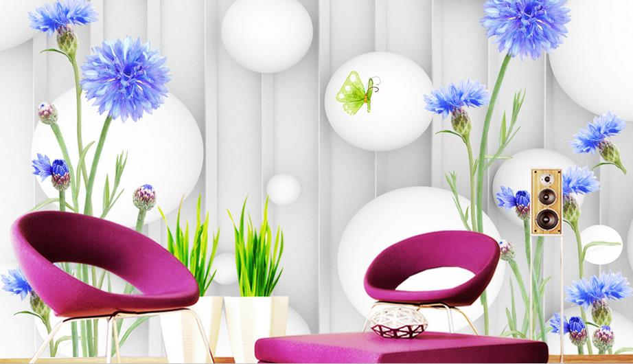Modern Fashion TV backdrop 3d mural wallpaper Dandelion wall murals non woven photo wallpaper bedroom living room decoration custom green forest trees natural landscape mural for living room bedroom tv backdrop of modern 3d vinyl wallpaper murals