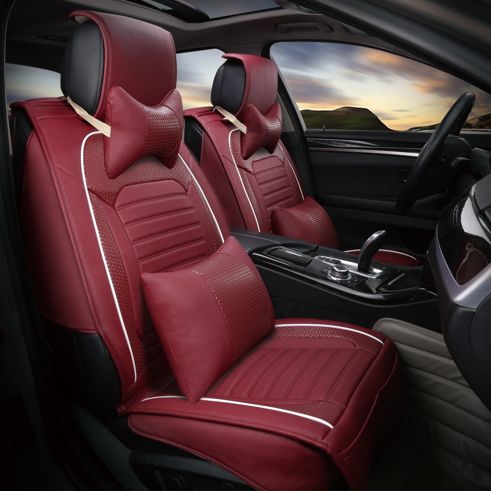 3D Universal Car Seat Cover High Grade Woven Leather Cushion Four Seasons  For BMW 1 3 4 5 6 7 Series GT M3 X1 X3 X4 X5 X6 SUV